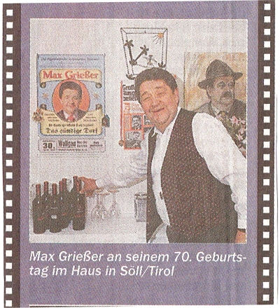 Max Grießer Todesursache